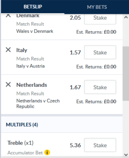 coral bookmaker multiple