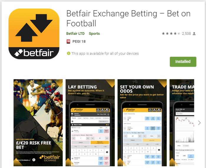 betfair echange app
