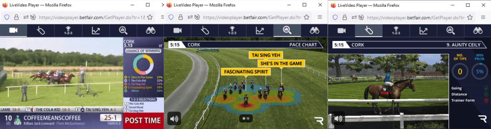 betfair racing videos