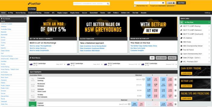 betfair exchange nz website