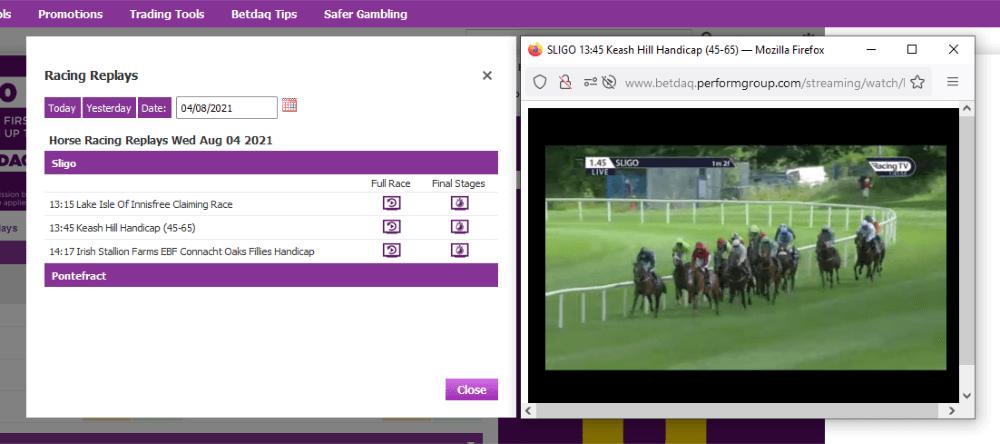 betdaq live streaming